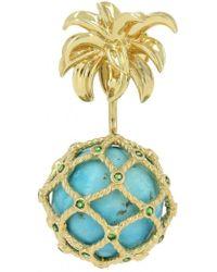 Yvonne Léon - Turquoise Mini Pineapple Gold Earring - Lyst