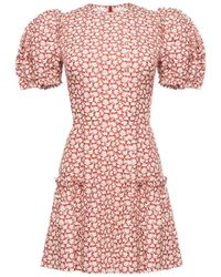 The Vampire's Wife Little Lotus Print Dress - Red