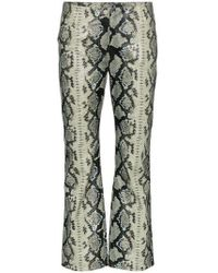 Miaou - Beatrice Snake Print Trousers - Lyst