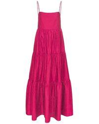 Matteau Asymmetric Maxi Dress - Pink