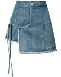 Sandy Liang - Mini Denim Wrap Skort - Lyst