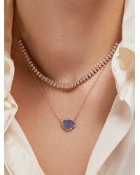 Anne Sisteron Gold Opal Diamond Luxe Jasmine Necklace - Metallic