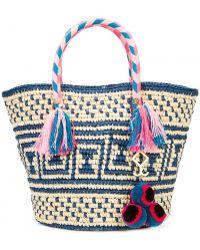 Yosuzi - Manya Embellished Woven Toquilla Straw Tote - Lyst