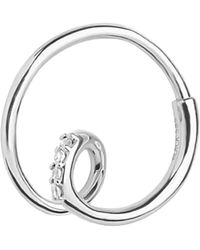 Maria Black Acrobat Diamond Hoop Earring - Metallic