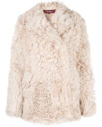 Sies Marjan Pippa Oversized Shearling Jacket - Natural