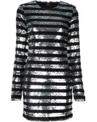 Kirna Zabete Striped Sequin Mini Dress - Black