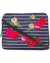 Lizzie Fortunato - Cherry Patch Clutch Bag - Lyst