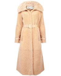 Off-White c/o Virgil Abloh Fox Fur Coat - Natural
