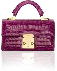 Stalvey Exclusive Top Handle 2.0 Alligator Shoulder Bag - Purple