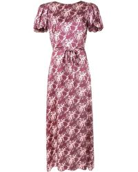 The Vampire's Wife Scoop Dog Floral Print Dress - Pink