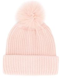 Yves Salomon Cashmere Pom Pom Beanie - Pink