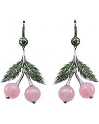 Axenoff Jewellery - Cherry Quartz Earring - Lyst