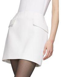 Mugler Pocket Mini Skirt - White