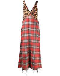 R13 Grunge Slip Dress - Red