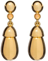 Adam Lippes - Gold Teardrop Earring With Semi Precious Stone - Lyst