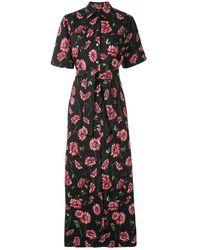 Adam Lippes Floral Tie-waist Dress - Black