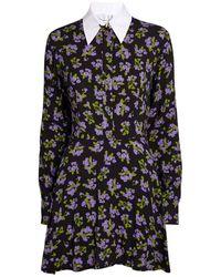 Natasha Zinko Floral Shirt Mini Dress - Black