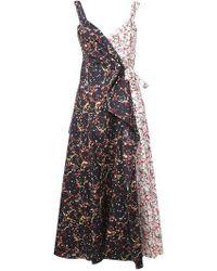 Rosie Assoulin - Printed Maxi Wrap Dress - Lyst