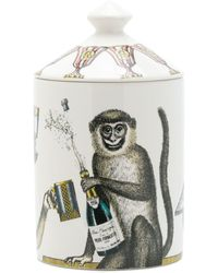 Fornasetti Monkey Print Candle - Multicolour