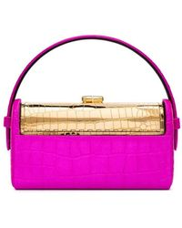 Bienen-Davis Embossed Régine Satin Bag - Multicolor