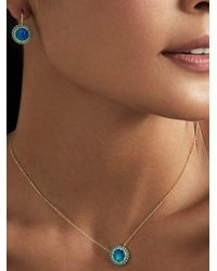 Anne Sisteron Opal Turquoise Diamond Kai Necklace - Brown