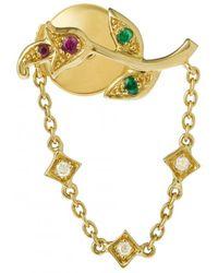 Yvonne Léon - Rose Chain Earring - Lyst