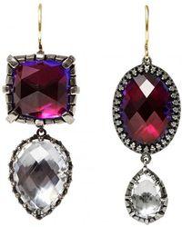 Larkspur & Hawk - Sadie Cushion And Oval Pear Drop Earrings - Lyst
