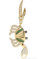 Kirna Zabete Diamond Crab Earring - Metallic