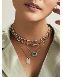 Anne Sisteron Green Amethyst Turquoise Diamond Portofino Necklace - Multicolour