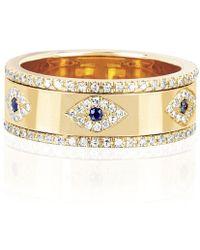 EF Collection - Multi Diamond Evil Eye Ring - Lyst