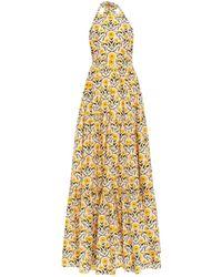 Agua by Agua Bendita Naranja Open Back Halter Dress - Yellow