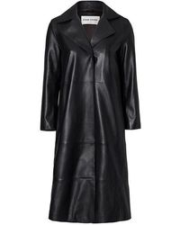 Stand Studio Melissa Leather Trench Coat - Black