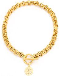Ben-Amun Gold Link Chain Necklace - Metallic