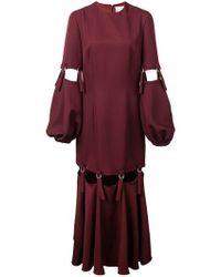 Sara Battaglia - Cut-out Dress - Lyst