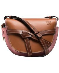 Loewe Small Gate Shoulder Bag - Brown