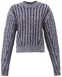 Chloé Crewneck Cable Knit Jumper - Blue