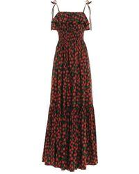 Agua by Agua Bendita Coco Tie Ruffle Dress - Red