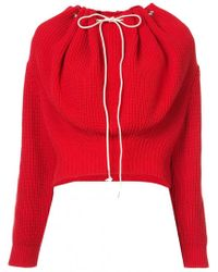 CALVIN KLEIN 205W39NYC - Drawstring Ribbed Sweater - Lyst