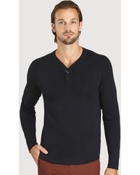 Kit and Ace First Class Henley - Black