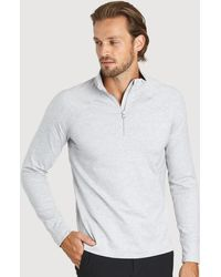 Kit and Ace Side Storage Quarter Zip - Gray