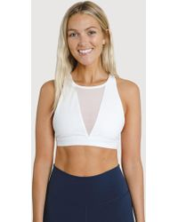 Kit and Ace The Base High Neck Bra - White