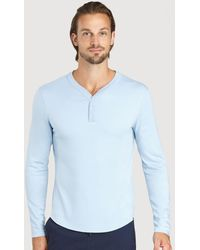 Kit and Ace First Class Henley - Blue