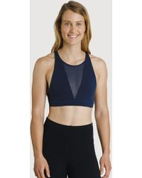 Kit and Ace The Base High Neck Bra - Blue
