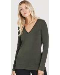 Kit and Ace - Kit Long Sleeve V-neck - Lyst