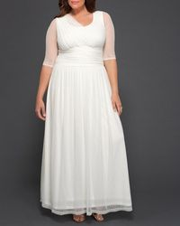 Kiyonna Meant To Be Chic Wedding Dress - White