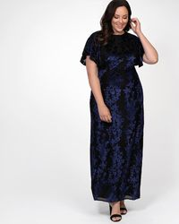 Kiyonna Parisian Dream Evening Gown - Blue