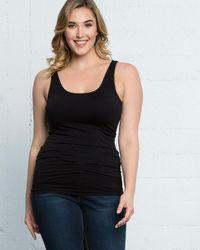 Skinnytees Plus Size Scoopneck Tank - Black