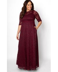Kiyonna - Special Edition Leona Lace Gown - Lyst