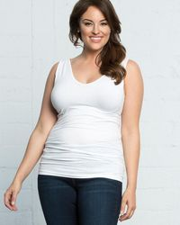 Skinnytees Plus Size V - White