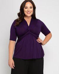 Kiyonna Caycee Twist Top - Purple